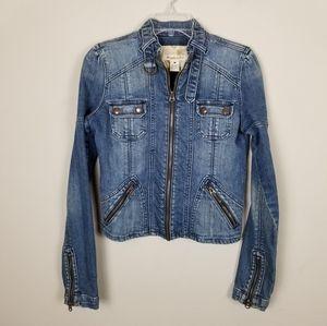 Abercrombie & Fitch Denim Zip Up Jacket